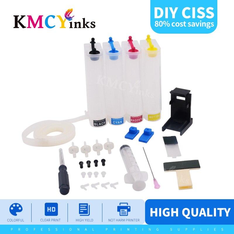 KMCYinks Универсальный 4 цвета DIY Набор СНПЧ с аксессуарами, совместимыми с картриджем hp 122 xl для Deskjet 1510 2050 1000 1050