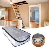 Attic Stairway Cover Attic Stairs Insulation Tent Double sided Aluminum Foil Door Insulator Kit with Easy Access Zipper