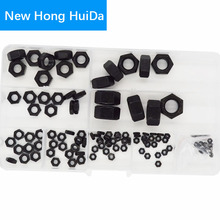 DIN934 Black Hex Nut Metric Thread Hexagon Nut M2 M2.5 M3 M4 M5 M6 M8 M10 M12 Carbon Steel Assortment Kit Set