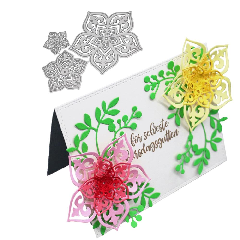 Flower Set Cutting Dies Stencil DIY Scrapbooking Embossing Paper Card Craft