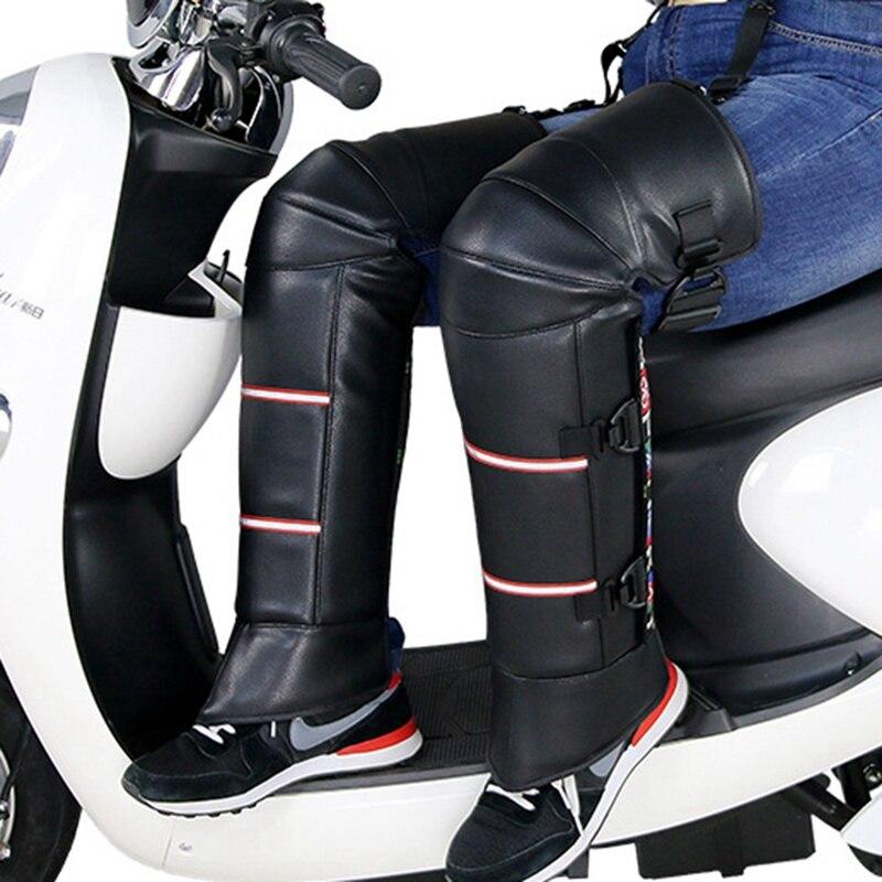 2 шт мотоциклетные теплые наколенники ветрозащитные наколенники протектор для ног утолщение морозостойкий зимний скутер