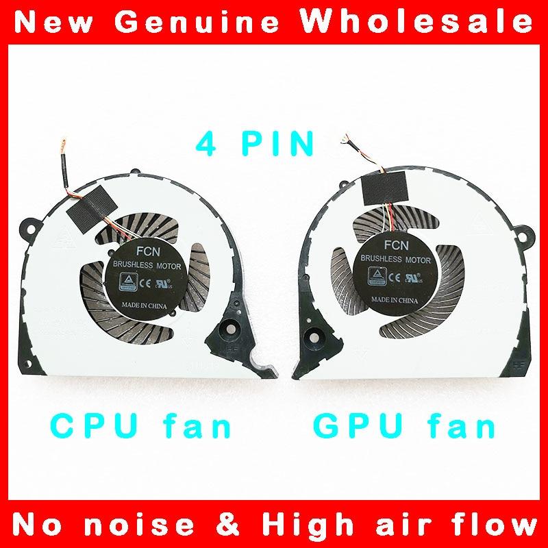 Portátil cpu gpu refrigerador do ventilador de refrigeração radiador para dell inspiron g7 15-7000 7577 7588 G5-5587 p72f 2jjcp CN-02JJCP