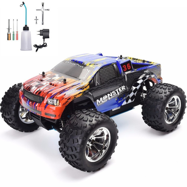 HSP RC Truck 1:10 Scale Nitro Gas Power Hobby Car Two Speed Off Road Monster Truck 94108 4wd High Speed Hobby Remote Control Car 1