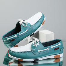 Big Size Shoes Loafers Men Genuine Leather Driving Shoes Retro Fashion Docksides Boat Shoes Classic Men Designer Flat Shoe