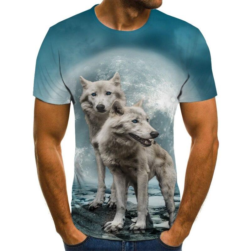 T Shirt Short Sleeve Boy/girl/kids Top Tees Men T-shirt Funny Wolf TShirt Shirt