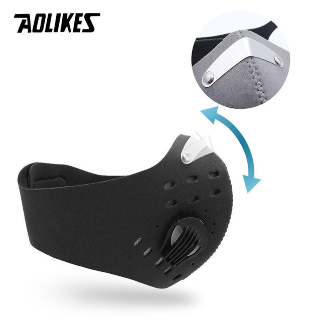 AOLIKES Cycling Mask With Filter Protective Cycling Mask Activated Carbon  PM 2.5 Anti-Pollution Sport Training Bike Facemask 2