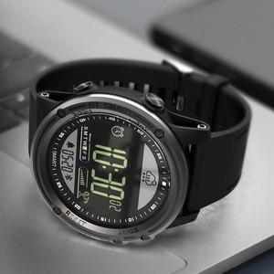 Image 5 - Lokmat esporte relógio inteligente pedômetro 5atm à prova dreal água tempo real relógio digital homem bluetooth smartwatch para ios & android