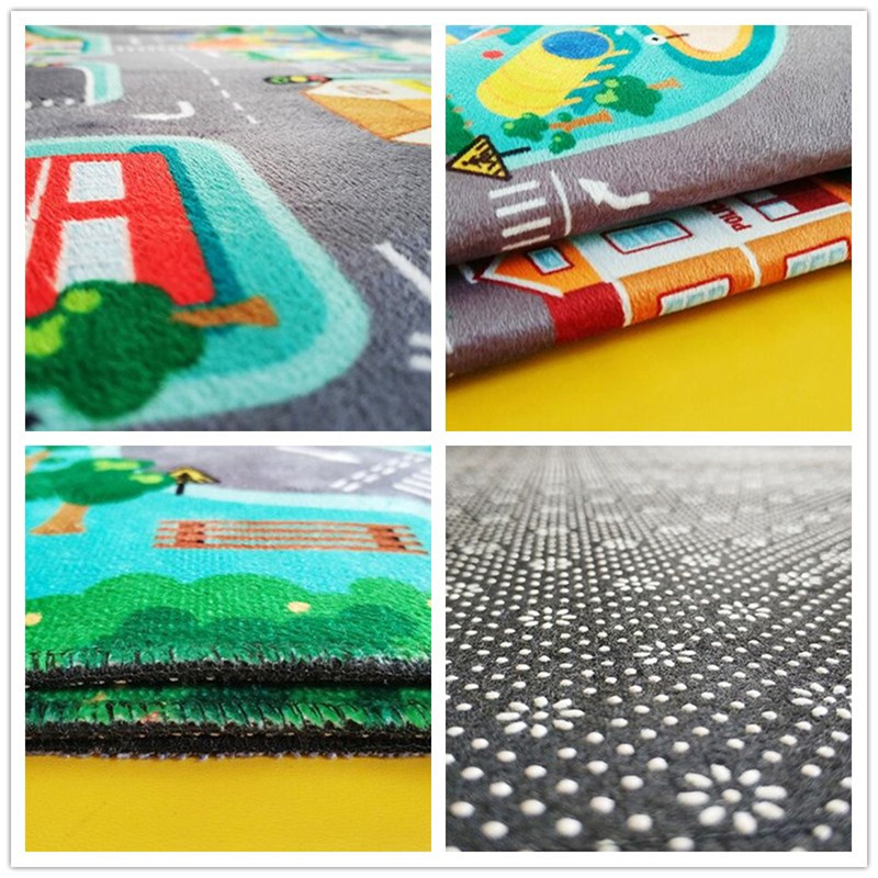 Children s Educational Carpet Traffic Urban Road LED Baby Play Mat Crawling Pad Kids Rug Infant