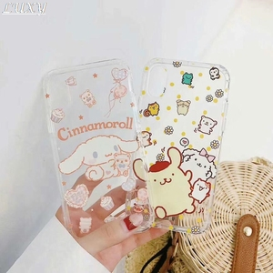 Cute cartoon Japan Sanrio Purin Cinnamoroll Soft Phone Case for iphone 11 Pro Max X XS Xr 7 8 6 s Plus relief Back Cover Coque(China)