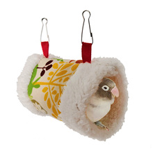 Bird Parrot Nest Soft Plush Bird Parrot Hammock Warm Hanging Bed For Pet Cave Cage Hut Tent Toy House for Small Animals