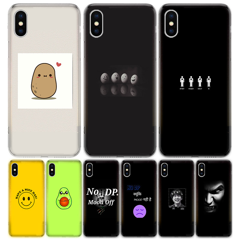 Cute Funny Wallpaper For Apple Iphone 7 8 Plus 11 Pro 10 X Xs Xr 6 6s 5 5s Se 2020 Max Soft Clear Silicone Tpu Phone Case Cover Aliexpress