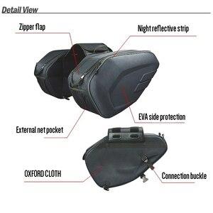 Image 5 - One Set Waterproof Motorcycle Saddlebags Helmet Moto Side Bag Tail Luggage Suitcase Motor Bike Fuel Tank Bags saddle bags SA212