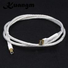 Hifi 1pcs Odin Silver plated Conductor interconnect USB cable with A to B plated gold connection USB audio digital cable