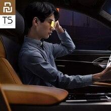 Original Youpin TS pilote Vision nocturne lunettes TAC lentille en alliage de Zinc agrafe 10g poids léger pour la conduite de nuit mode clair