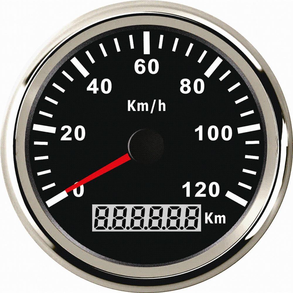 1 шт. новый стиль 0-120 км/ч авто тюнинг gps Спидометр датчики 85 мм gps одометров показатели скорости для автомобиля с антенны