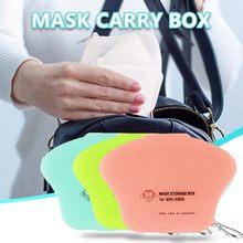 Mode Faltbare Einweg Staubdicht Maske Lagerung Box Staubdicht Gesicht Masken Lagerung Clip Container Fall Masken Lagerung Clip Boxen