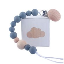 Newborn Feeding Pacifier Baby Wooden Beaded Pacifier Clip Silicone Chain Nipple Holder Baby Pacifier For Children 2021 Hot Sale cheap BPA free CN(Origin) 4 months 0-6m Solid baby shower gift Use a pacifier for your child Single loaded Latex Free Baby Wood Beaded Pacifier Clip Silicone Chain Nipple Holder Infant
