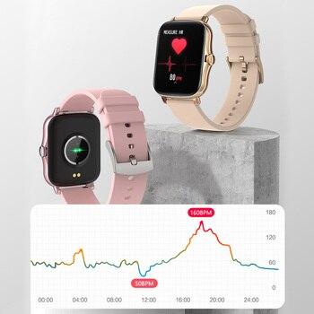 COLMI P8 Plus 1.69 inch 2021 Smart Watch Men Full Touch Fitness Tracker IP67 waterproof Women GTS 2 Smartwatch for Xiaomi phone 4