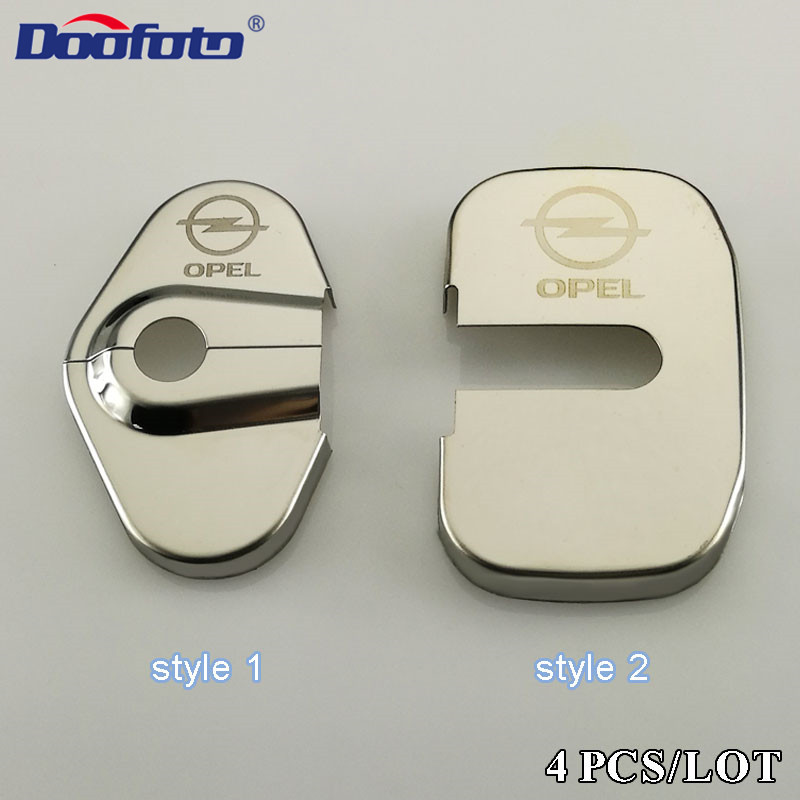 Doofoto 4x Car Door Lock Cover For Opel Astra J Insignia Astra G Corsa Zafira B Mokka Vivaro Meriva Accessories Protective Cover