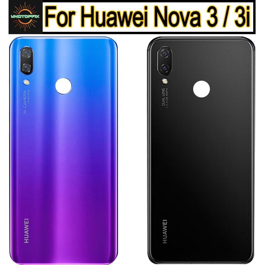 Oryginał dla Huawei Nova 3I pokrywa baterii tylna szklana tylna pokrywa baterii obudowa drzwi dla Huawei Nova 3 pokrywa baterii wymień