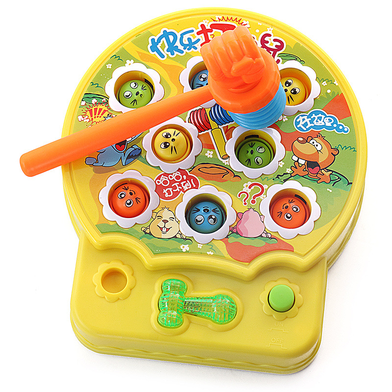 New Generation Fight Rats Beat Hamster Music Game Baby Toy Mole Game Machine Puzzle Children's Toys Birthday Christmas Gif