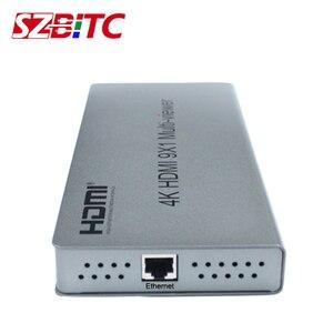 SZBITC 4K HDMI 9x1 Quad multi-просмотра HDMI 9 в 1 выход с бесшовным переключением ИК-управления HDMI делитель коммутатор для Camares PC