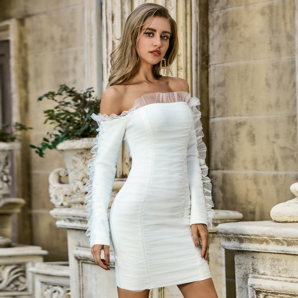 White Off Shoulder Lace Dress