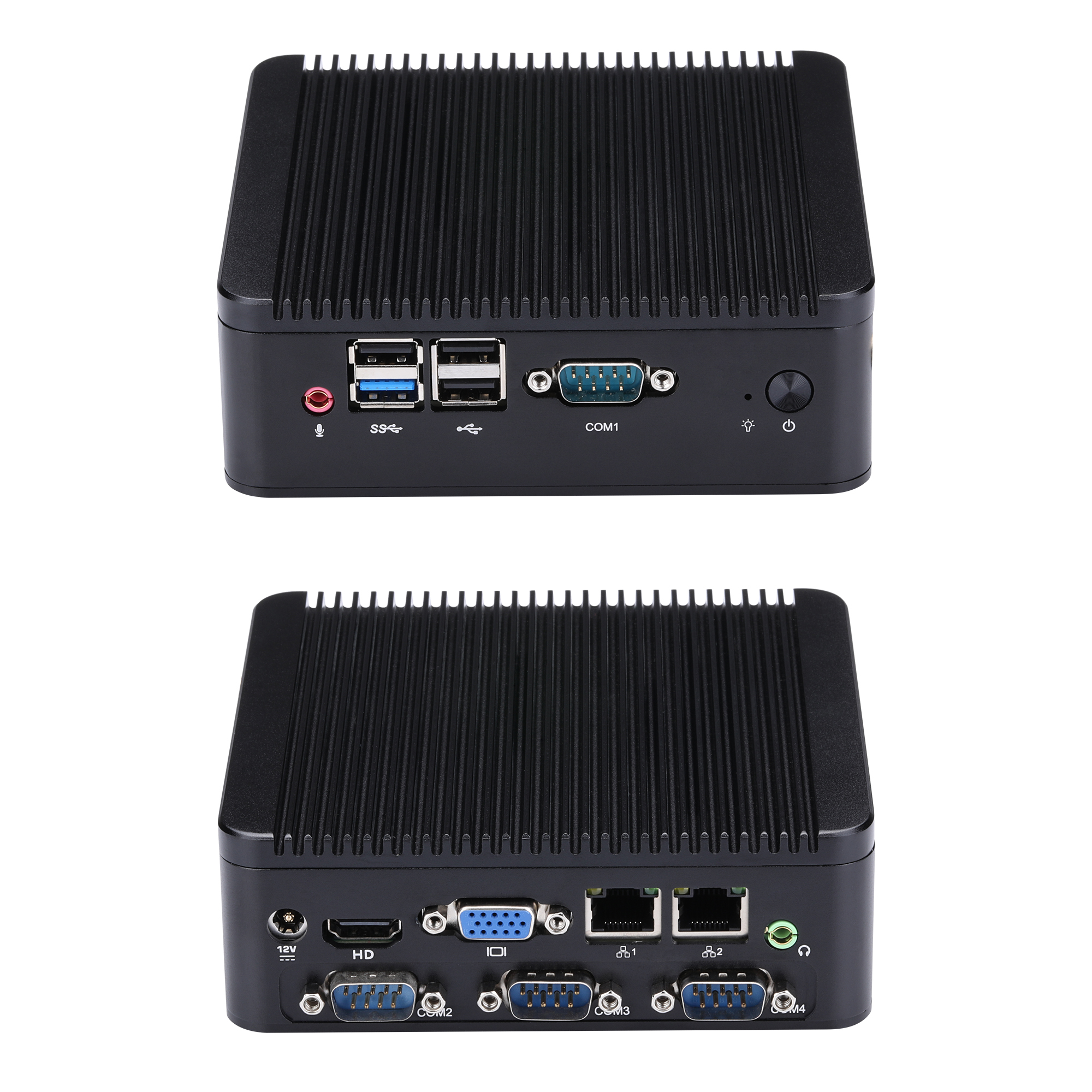 FAST 4 RS232 MINI PC J1800 J1900 Mini Living Room PC / HTPC Host / Industrial Computer Celeron Quad-Core