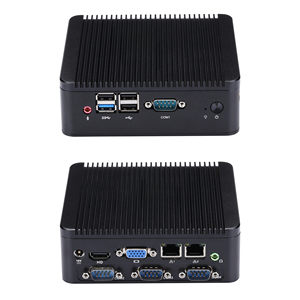 FAST 4 RS232 MINI PC J1800 J1900 mini living room PC / HTPC host / industrial computer Celeron Quad-Core(China)