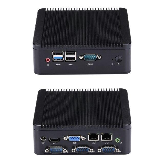 Szybki 4 RS232 MINI PC J1800 J1900 mini salon PC/HTPC host/komputer przemysłowy Celeron czterordzeniowy