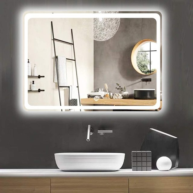 "LED-600 800 32"" x 24"" Bathroom Mirror, Backlit Mirror with Led Lights Lighted Makeup Vanity Wall-Mounted Horizontally, Rectangul 2"
