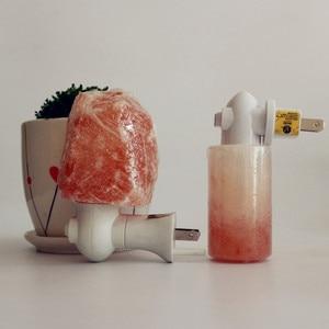 Светодиодный светильник из гималайской соли, с теплым белым кристаллом, ручной работы, ночник, Декор для дома, вилка стандарта ЕС/Великобрит...
