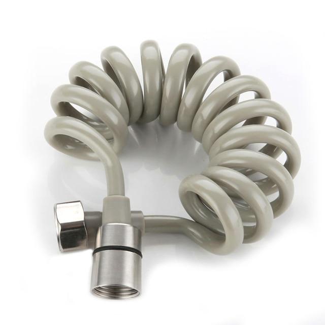 1.5M 2M 3M 5M 8M ressort douche buse tuyau souple tuyau Flexible télescopique Tube toilette Bidet tuyau de pulvérisation 304 acier inoxydable