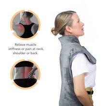 Электрическая грелка для спины и шеи, защита от боли в плечах, быстрая термотерапия, мыс, моющееся нагревательное одеяло с защитой от перегрева