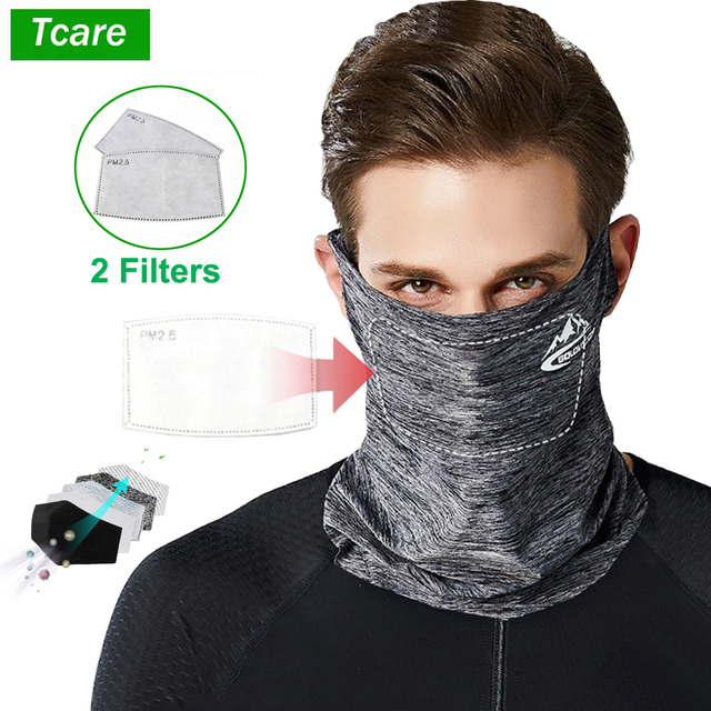 1Pcs Multi Functional Mouth Face Mask Ice Silk Sunscreen Cap Scarf Outdoor Summer Cycling Bicycle Sportswear Accessories