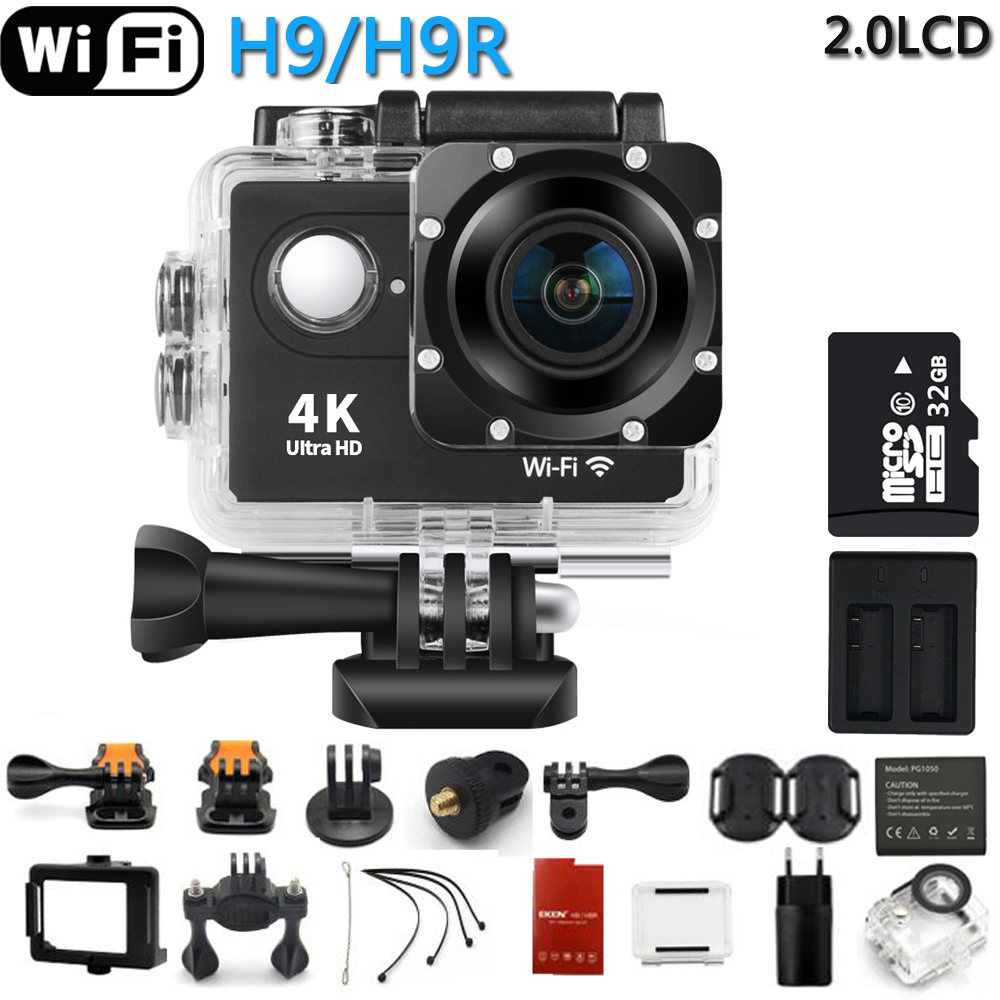 Original Action Kamera H9R/H9 Ultra HD <font><b>4K</b></font> WiFi Fernbedienung Sport Video Camcorder DVR DV gehen Wasserdicht pro Kamera image