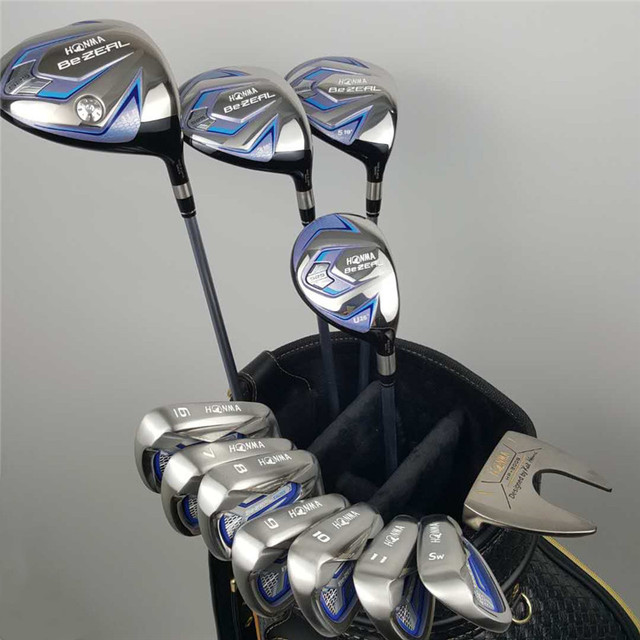Nieuwe Vrouwen Honma Golf Club Honma Bezeal 525 Golf Complete Set Met Hout Putter Head Cover (Geen Zak) gratis Verzending