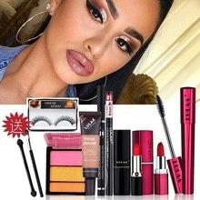 Makeup Set Kit Box Professional Full Women Matte Lipstick Cosmetic Bag Waterproof Concealer