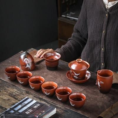 Ceramic Chinese Stone Pottery Tea Set 1