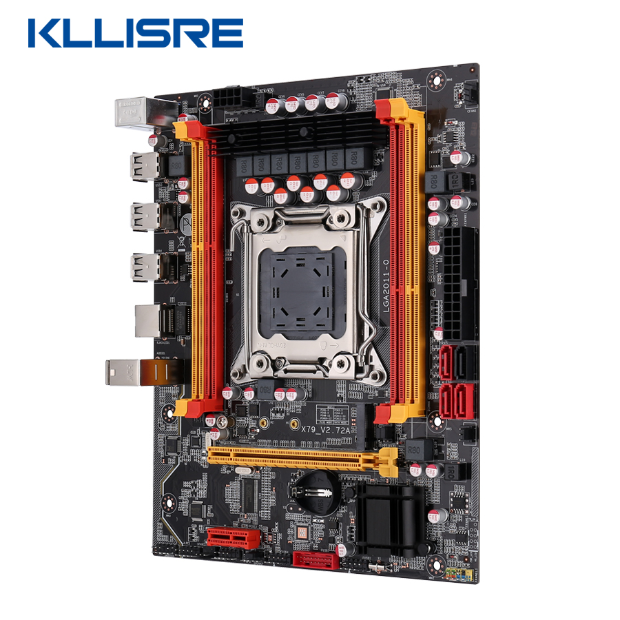 Kllisre X79 chip motherboard LGA2011 ATX USB2.0 PCI-E NVME M.2 SSD support REG ECC memory and Xeon E5 processor 2