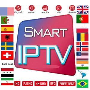 IPTV M3U Subscription 7500+ tv program Andorid TV Box Portugal Arabic Spain Premium For Android Box Enigma2 Ssmart TV Box(China)