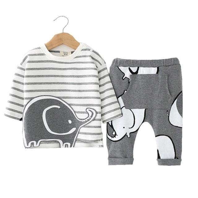Baby Boy's Cartoon Clothing Set 1