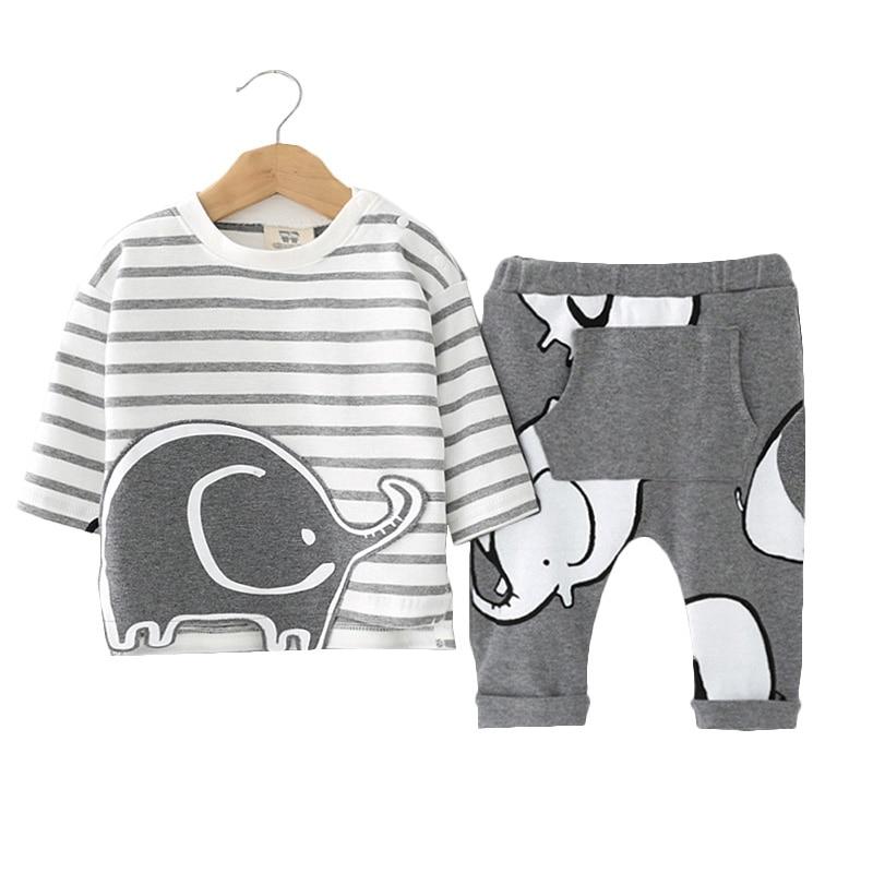Brand Romper Set Fashion Cartoon Roupas De Bebes Bodysuit+Hat+Pant 3pcs Baby Boy Clothing Set Cute Animal Newborn Baby Clothes