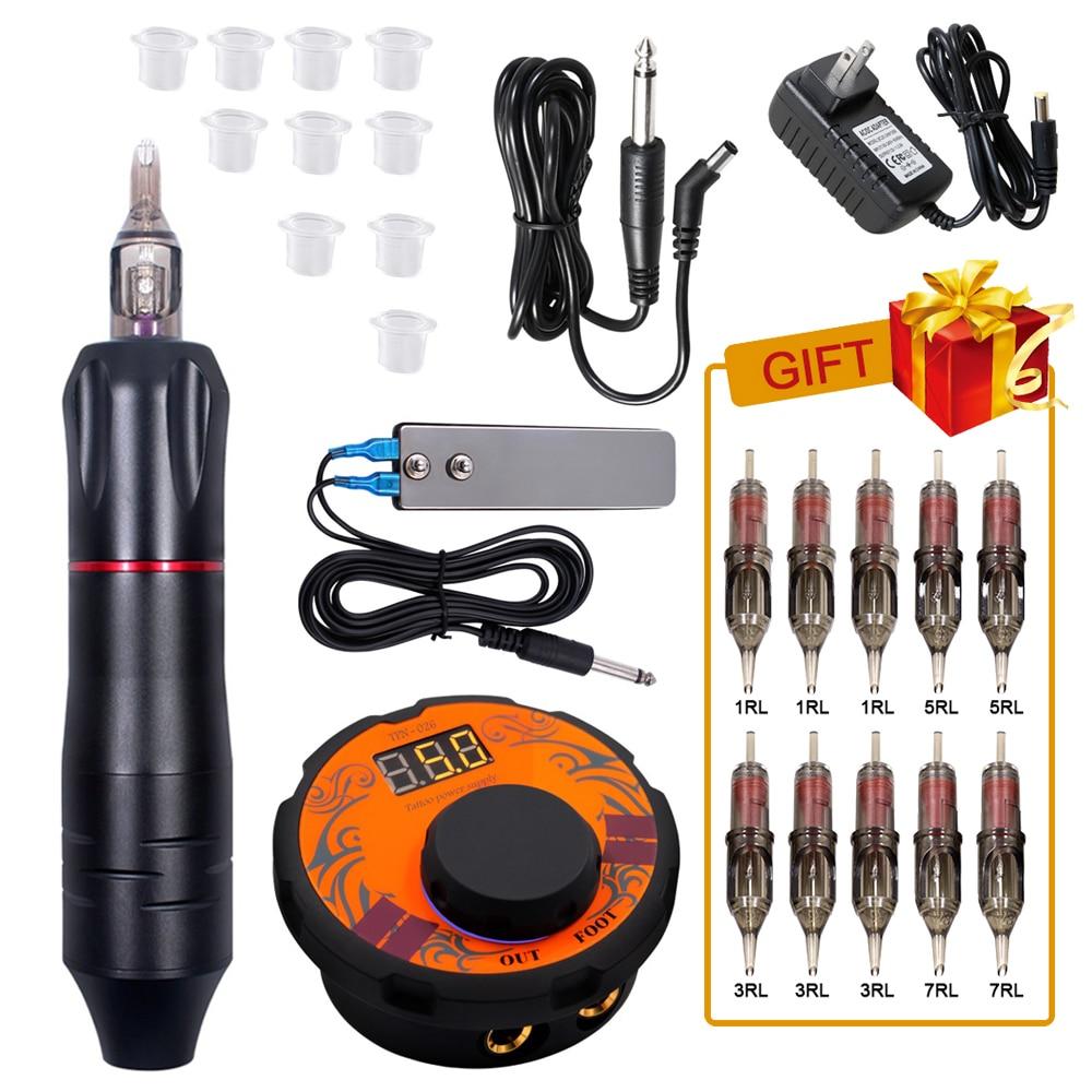 Professional Tattoo Machine Kit Rotary Gun Tattoo Needles Sets Accessories Body Art