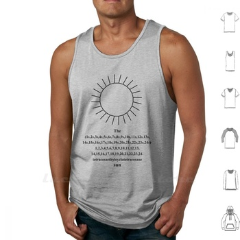 Funny Sun - Iupac - Chemistry - Black Tank Top Vest Sleeveless Cotton Chemist Chemistry Iupac Nomenclature Marcel Wirth Pupil image