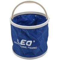 Leo 야외 캔버스 양동이 접이식 양동이 휴대용 캠핑 하이킹 낚시 양동이 낚시 태클 도구 블루