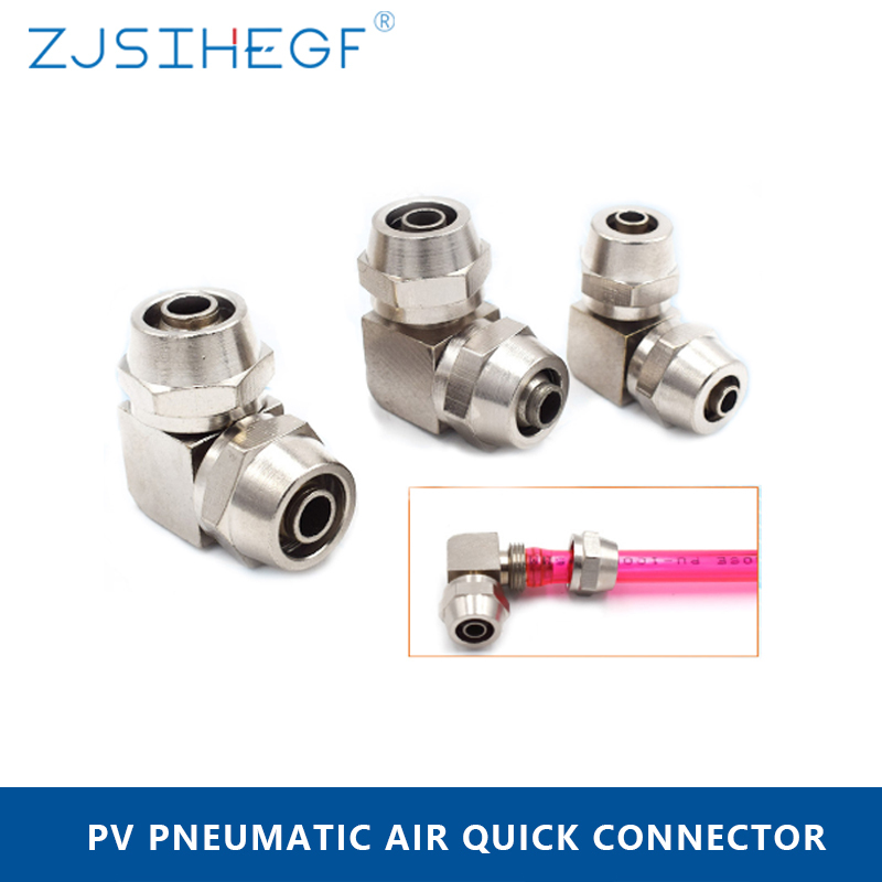 PZA-10mm Beennex 5Pcs Plastic Four Way Pneumatic Equal Union Push Air Tube Quick Connect Fittings