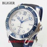 Popularny  samonakręcający się męski zegarek mechanizm automatyczny szafirowe szkło 41mm zegarek na rękę w Zegarki mechaniczne od Zegarki na
