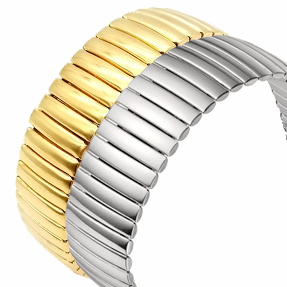 12 14 16 18 20 22MM Stretch Expansion Stainless Steel Parts Watch Band Strap Silver Metal Watch Bracelets Watch Accessories