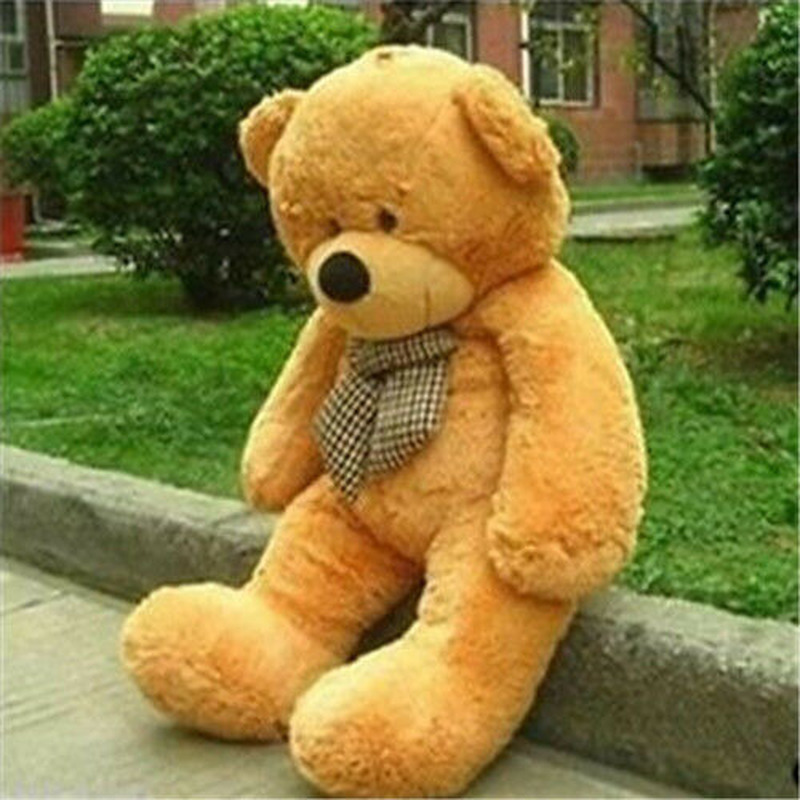 32in.<font><b>80cm</b></font> Giant Super Huge Light Brown Teddy Bear Plush Soft Toy <font><b>Doll</b></font> Only Cover Cotton Toys for Children Cute Plush Gift image